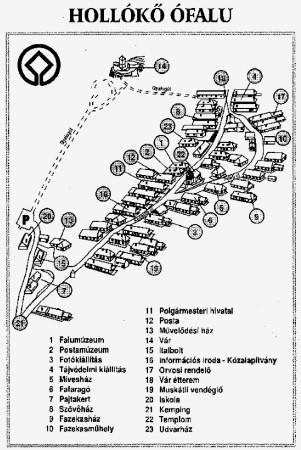 Hollókő térkép